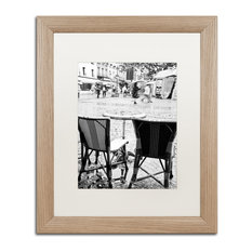 """Paris Cafe for 2"" Framed Art by Yale Gurney, Birch, White, 16""x20"""
