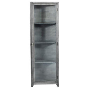 Black Iron Cabinet With 1 Door, Tall