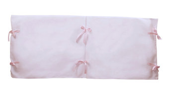 Klassic Bed Rail Cover, White And Pink