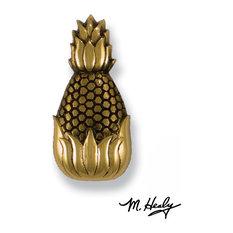 Hospitality Pineapple Doorbell Ringer, Brass