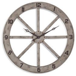 Farmhouse Wall Clocks by BASSETT MIRROR CO.