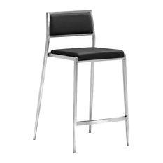 Zuo Dolemite Modern Counter Chair Black