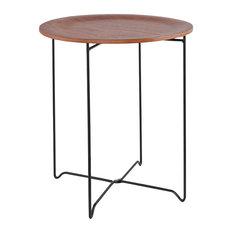 Oola Wooden Side Table, Walnut