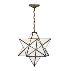 "Meyda Lighting 21842 18""W Moravian Star White Pendant"
