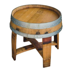 wine barrel outdoor furniture alpine wine design outdoor finish wine barrel side table with cross braces arched napa valley wine barrel table