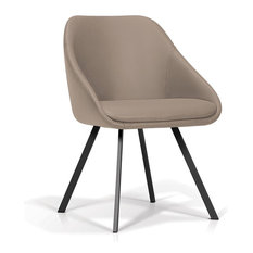 Dining Chair, Coral Gray Faux Leather