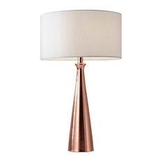 Linda Table Lamp, Brushed Copper
