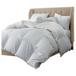 Egyptian Bedding - Luxurious Hungarian Goose Down Comforter 800 Thread Count 750FP, King - Package contains One White Goose Down Comforter in a beautiful zippered package. Wrap yourself in these 100% Egyptian Cotton Superior Down Comforters that are truly worthy of a classy elegant suite, and are found in world class hotels. Woven to a luxurious 800 threads per square inch,these fine Down Comforters are crafted from Long Staple Giza Cotton grown in the lush Nile River Valley since the time of the Pharaohs. Comfort, quality and opulence set our Luxury Bedding in a class above the rest. The ultimate in luxury! this amazing light 750 + fill power goose down comforter floats within a 800 Thread count 100% Egyptian cotton .The result is a comforter so luxurious and soft, you will believe you are truly covering with a cloud, night after night. Warranty only when purchased from Egyptian Bedding Reseller.