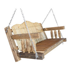 Montana Woodworks Homestead Transitional Wood Porch Swing in Brown