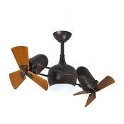 Atlas Dagny 1 Light 38 in. Indoor Ceiling Fan in Textured Bronze