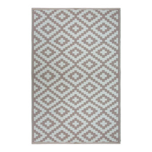 Nirvana Indoor/Outdoor Rug, Taupe and White, 150x240 cm