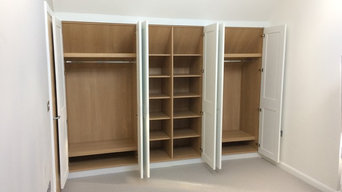 Painted Wardrobe with Oak Interior