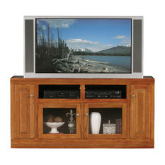 Eagle Furniture Classic Oak Thin 66-inch Tall Entertainment Console Medium Oak