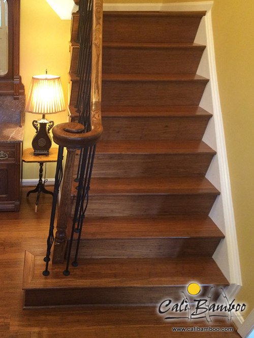 Marvelous Antique Java Fossilized® Bamboo Flooring On Stairs