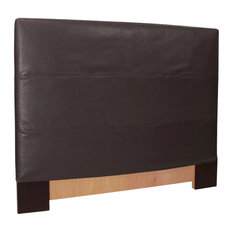 Black Faux Leather King Headboard Slipcovers 124-194