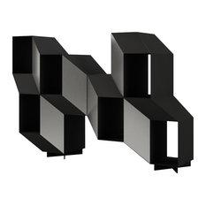Rocky Bookcase, Textured Matte Black
