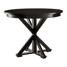 Willow Round Counter Height Table, Distressed Black