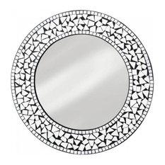 3b014a6fe858 Round Mosaic Wall Mirror