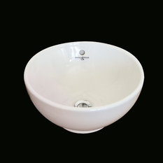 Perrin & Rowe - Perrin & Rowe Table mounted 380mm dia. round vanity bowl with overflow - Bathroom Vanities