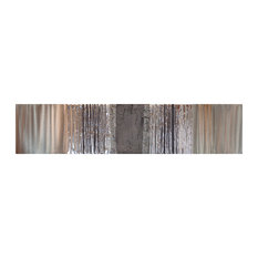 Oak Grey Metal Wall Art, 33x150 cm