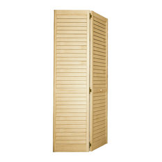 Kimberly Bay   Plantation Bi Fold Closet Door, Louver/Louver, Clear,