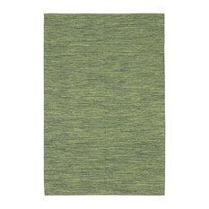India Contemporary Area Rug, Green, 2'6x7'6 Runner