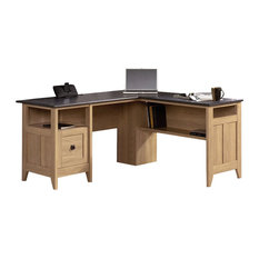 sauder sauder august hill ldesk in dover oak desks and hutches