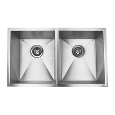 Stainless Steel Undermount 50/50 Double Bowl Kitchen Sink, Brushed Stainless Ste