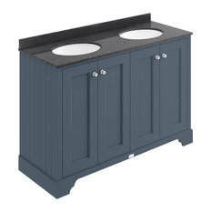 1200 mm 4-Door Basin Cabinet, Stiffkey Blue