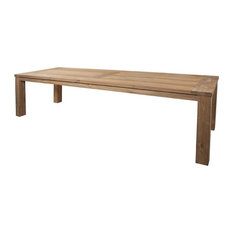 Rectangular Dining Table With Extra Thick Reclaimed Wood 118-inch