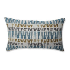 Pillow Perfect Indoor Blue Sky Blue/Gold/Gray Rectangular Throw Pillow