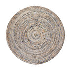 Kerala Denim and Jute Round Rug, 8