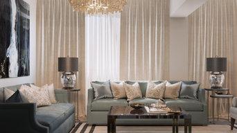 Мягкий эклектичный интерьер квартиры 205 кв.м.