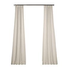 "FauxLinen Single Panel Blackout Curtain, Birch, 50""x96"""