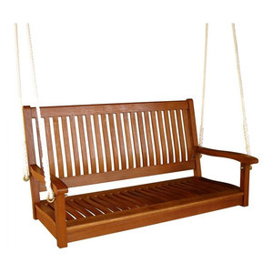 Astounding 2 Person Bench Swing Rustic Porch Swings By Grindstone Customarchery Wood Chair Design Ideas Customarcherynet