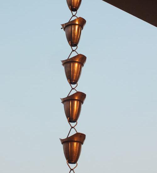 Decorative Downspouts   Bell Cup Rain Chain   Rain Chains