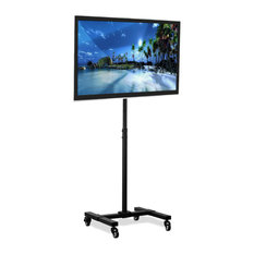 Mount-It! Mobile TV Stand With Wheels Adjustable Height 13-inch-42-inch TVs