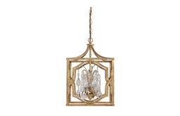 Capital Lighting Blakely 3 Light Foyer with Crystals, Antique Gold