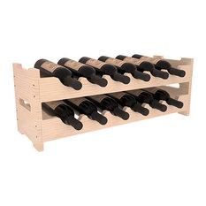 Wine Racks America 12-Bottle Mini Scalloped Wine Rack, Pine, Satin Finish