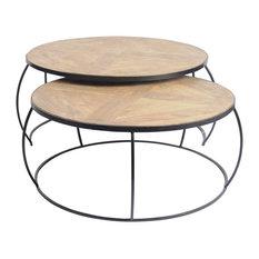 Clapp II Nesting Coffee Tables, Set Of 2