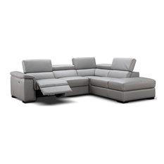 Perla Italian Leather Sectional Sofa, Power Recliner, Right Hand Facing Chair