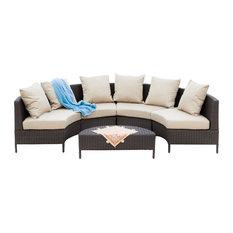 5-Piece Venice Outdoor Wicker Sofa Sectional Set