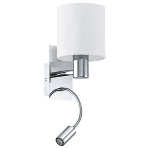 Eglo Halva Wall Light With LED, Satin Chrome
