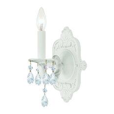 "Crystorama Lighting Group 5021-CL Paris Market 1 Light 12""H Wall - White"