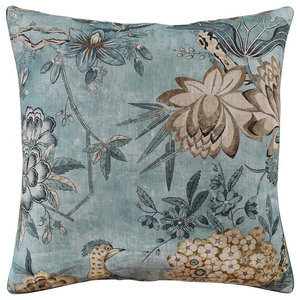 Lilipi Kingfishers And Morning Decorative Accent Throw Pillow Reeds Home Kitchen Bedding