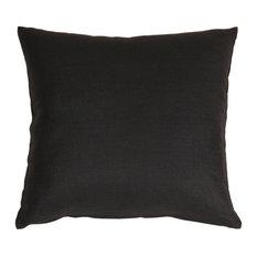 Pillow Decor - Tuscany Linen Black 18 x 18 Throw Pillow