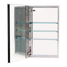 Alno Medicine Cabinet Satin Nickel 15 X25 X5