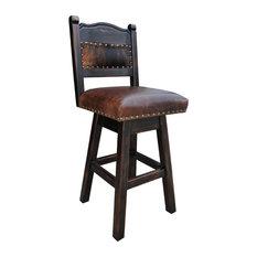 "Hacienda Swivel Stool, Cowhide, 30"" Bar Height"