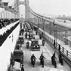 "George Washington Bridge, Opening Day, October 25, 1931, 8""x10"" Matted"
