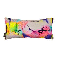 Whirls Velvet Lumbar Pillow, Multicoloured